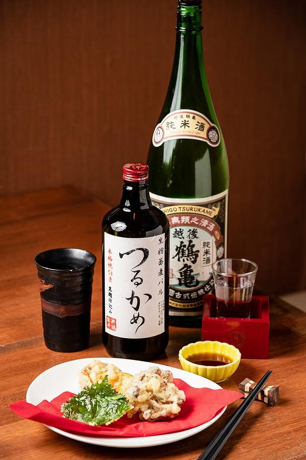 日本酒DE生粉蕎麦バル つるかめメニュー写真